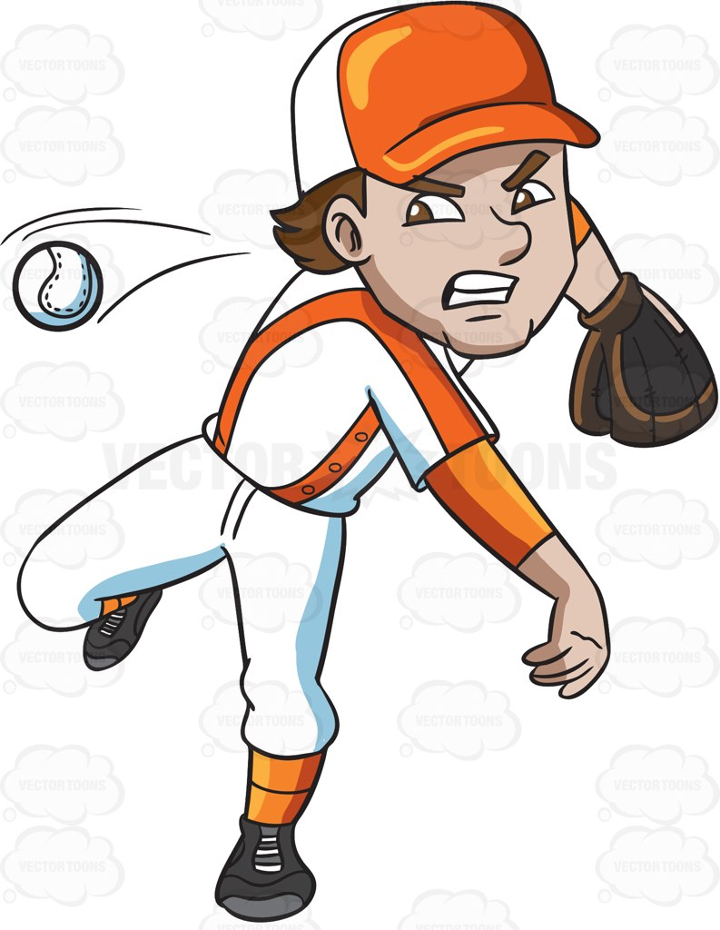 Baseball Pitcher Clipart