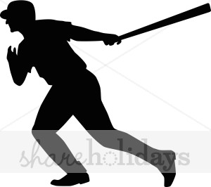 300x266 Baseball Player Silhouette Clip Art Cliparts