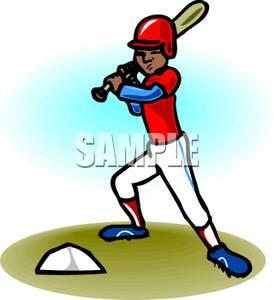 274x300 Art Image A Baseball Player Up To Bat