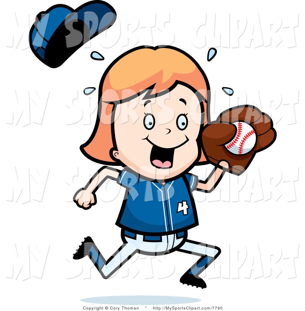 1024x1044 Girl Baseball Player Clipart