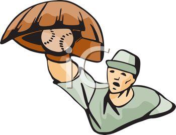 350x268 Baseball Player Catching A Ball Overhand