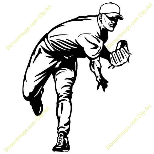 500x500 Pitcher Clipart Baseball Pitching