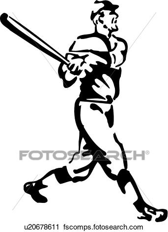 342x470 Clipart Of Retro Baseball Player U20678611