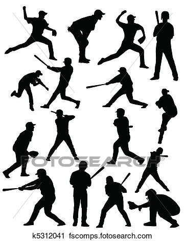 362x470 Clipart Of Baseball Players K5312041