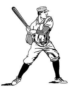236x298 Vintage Baseball Clipart