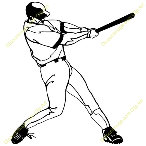 500x500 Baseball Player Clipart Black And White Letters Example