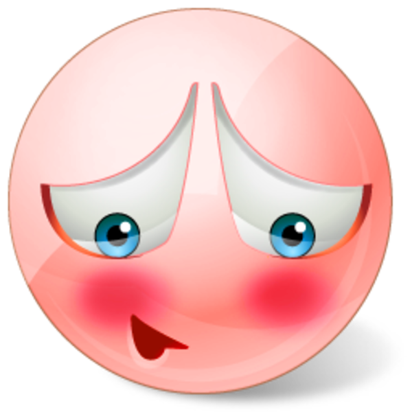 600x600 Blushing Cartoon Clip Art