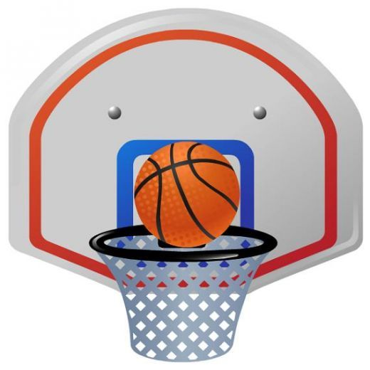 520x520 Basketball Board Ring Clipart Collection