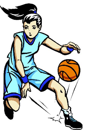 350x535 Girl Shooting Basketball Clipart