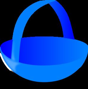 297x300 Blue Basket Clip Art