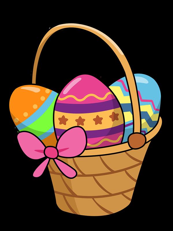 600x800 Free Cartoon Easter Basket Clip Art
