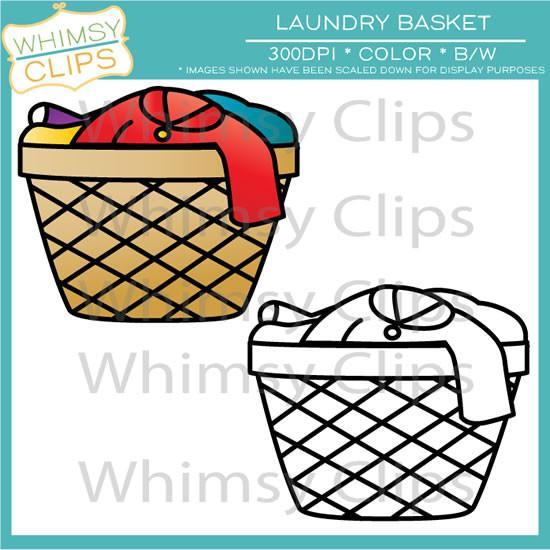550x550 Laundry Basket Clip Art , Images Amp Illustrations Whimsy Clips