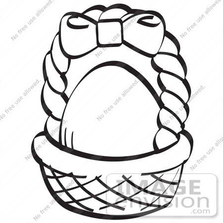 450x450 Royalty Free Black And White Cartoon Clip Art Of An Egg In A Brown