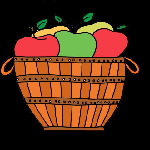 480x480 Basket Clipart Apple Basket