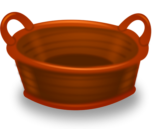 500x427 Basket Clipart Brown