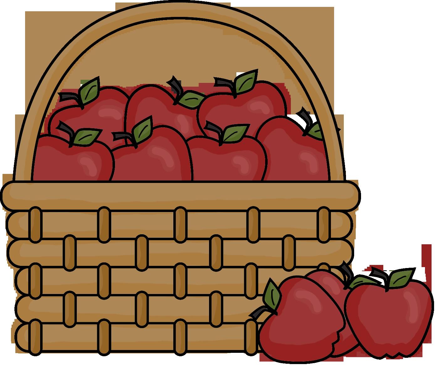1388x1167 Best Apple Basket Clipart