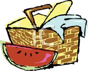 300x242 Clip Art Picnic Basket Food Clipart