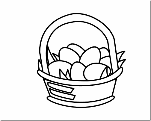 504x404 Easter Black And White Clipart