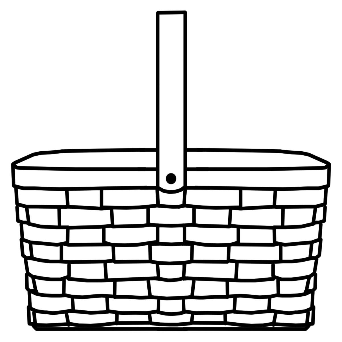 1200x1200 Picnic Basket Clipart Wicker Basket