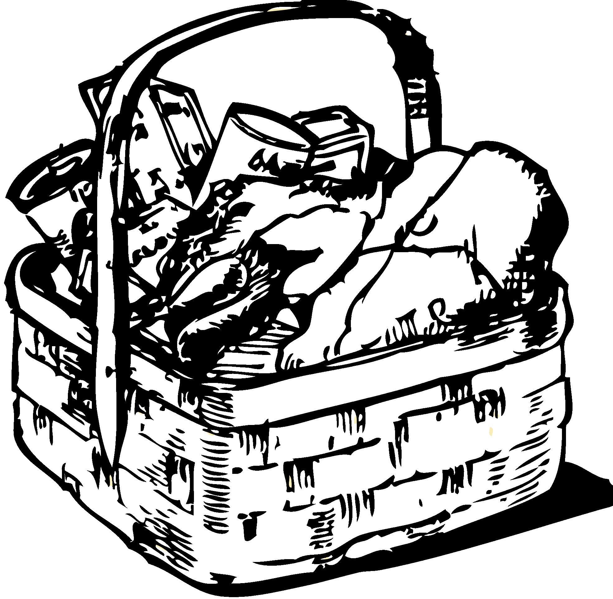 1969x1924 Picnic Basket Clipart Black And White Clipartfox 2