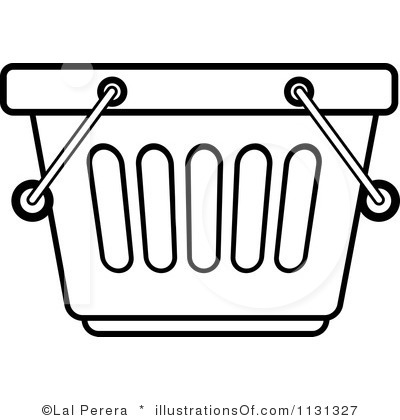 400x420 Basket Clipart Grocery Store