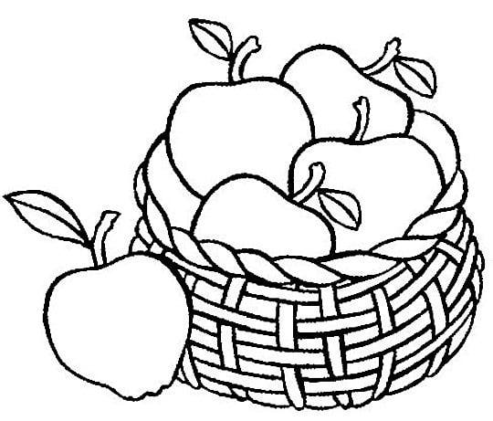540x461 Apple Black And White Apple Basket Black And White Clipart