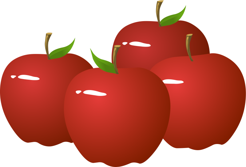 800x545 Basket Clipart Red Apple