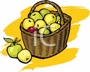 300x239 Basket Of Green Apples
