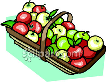 350x272 Clipart Of Apples In A Basket