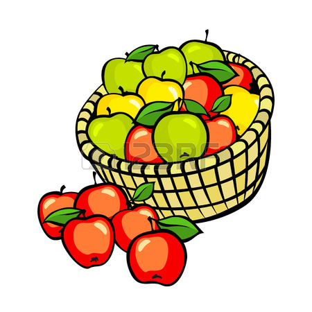 450x450 6,203 Apple Basket Stock Vector Illustration And Royalty Free