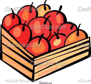 375x347 Apple Basket Clipart