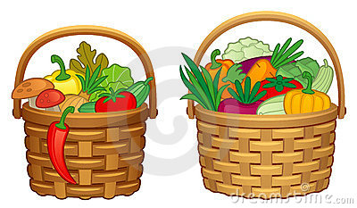 400x233 Harvest Clipart Vegetable Basket