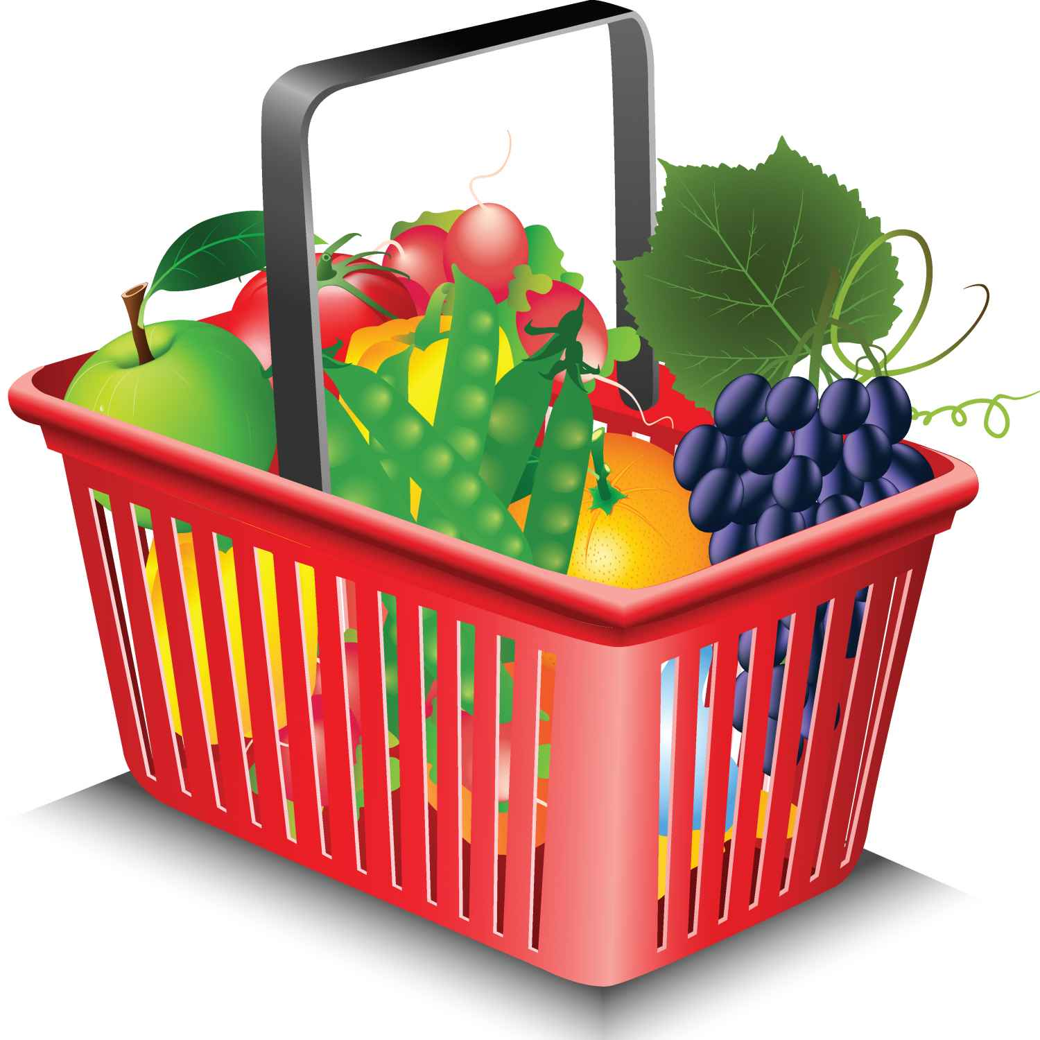 1500x1500 Vegetable Basket Clip Art