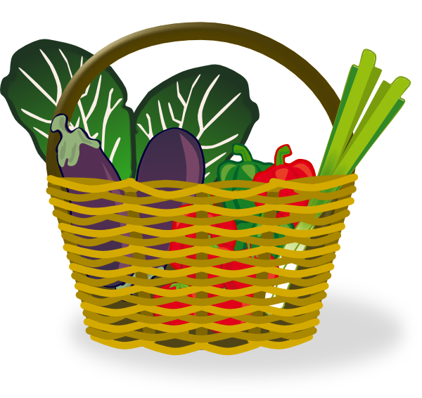 600x566 Basket Of Vegetables Clip Art