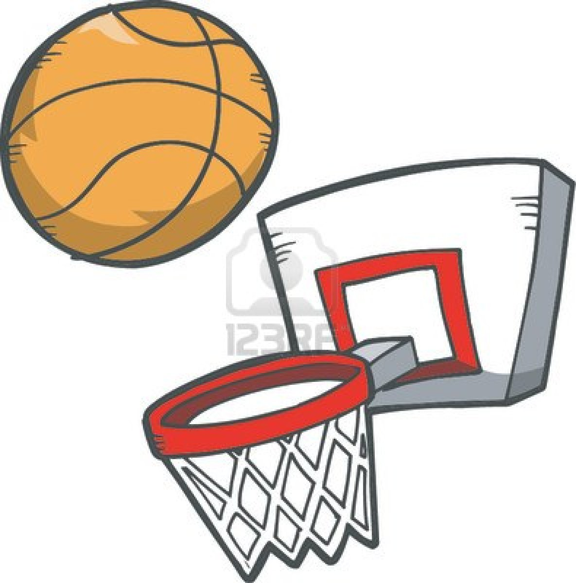 1185x1200 Clipart Basketball Hoop