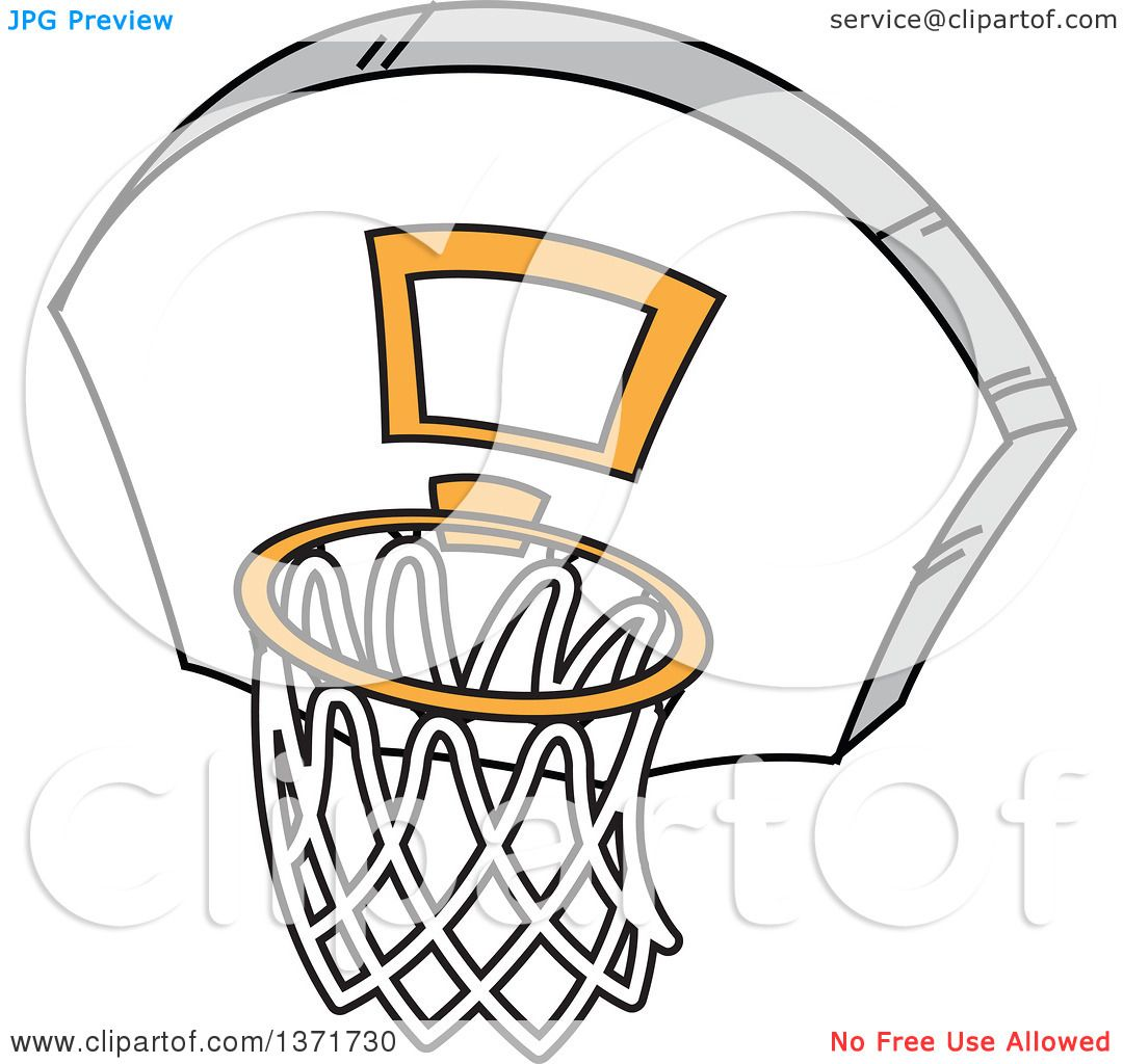 1080x1024 Clipart Of A Basketball Hoop