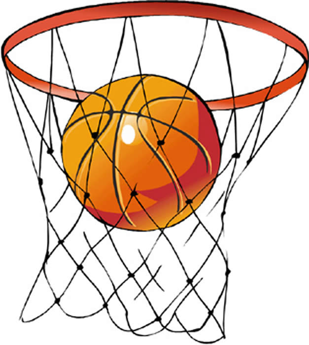 627x700 Basketball Hoop Clip Art