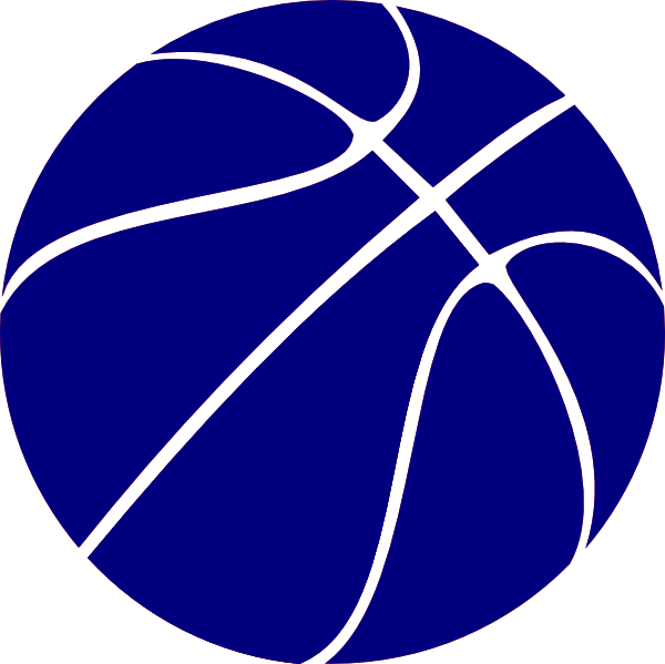 600x599 Blue Basketball Clip Art