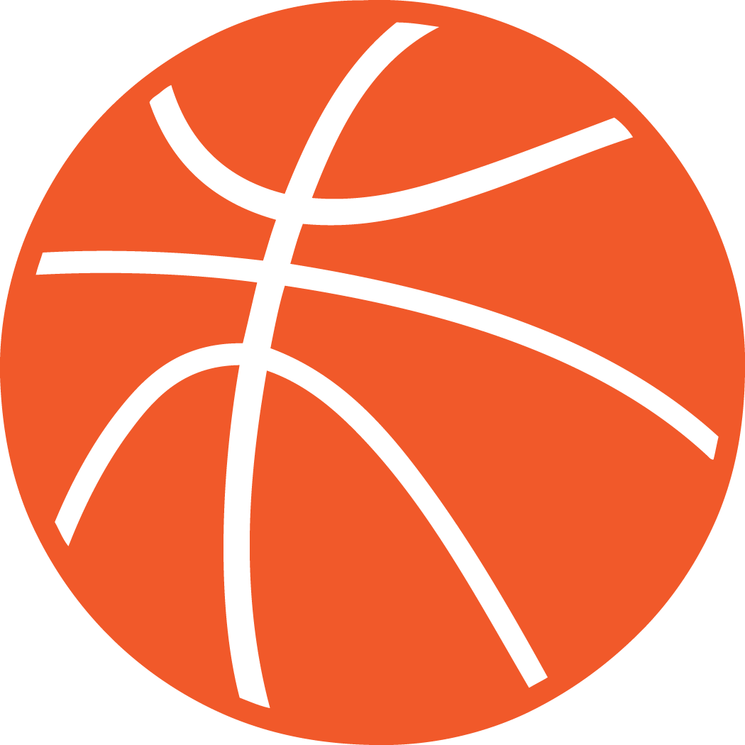 1050x1050 Half Basketball Clipart