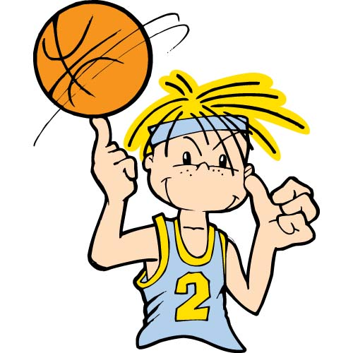 500x500 Kids basketball clip art free clipart images