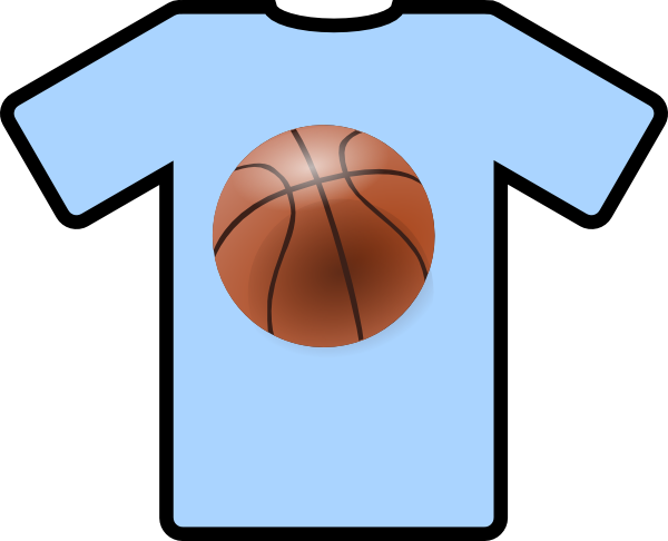 600x486 Light Blue Shirt Basketball Clip Art