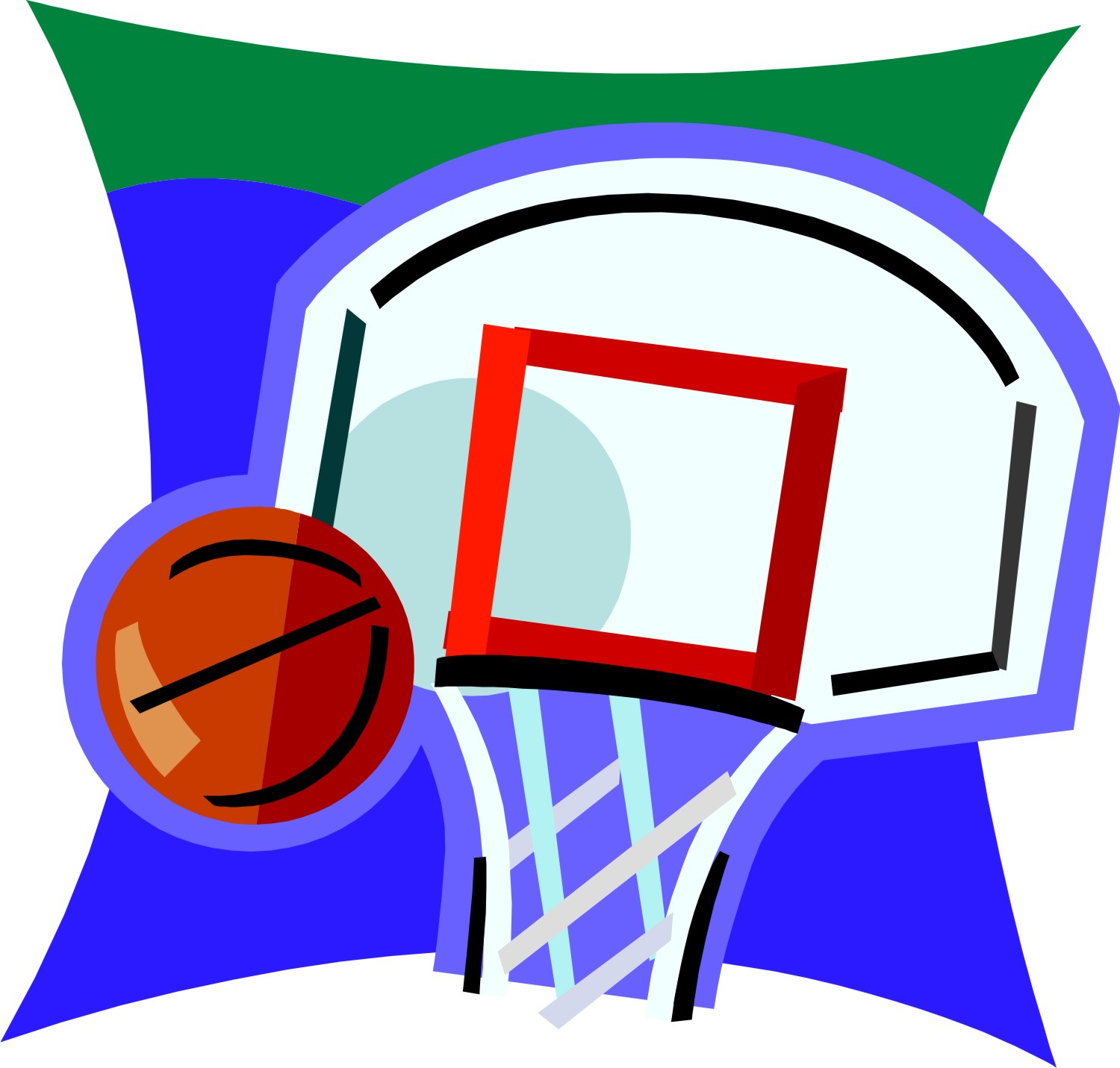 1500x1431 Basketball Hoop Clipart