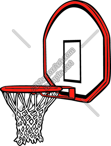 380x500 Basketball Hoop Graphic Clipart and Vectorart Sports