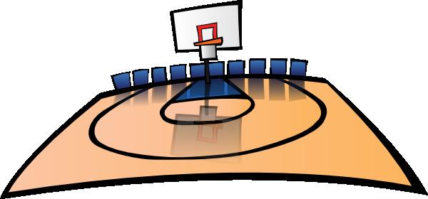 600x280 Cartoon Basketball Court Clip Art