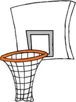 150x200 Clipart Of Basketball Hoop