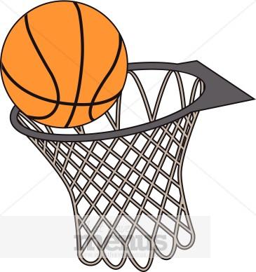 365x388 Ball Clipart Basketball Net