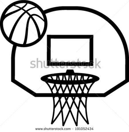 450x463 Basket Clipart Basketball Goal