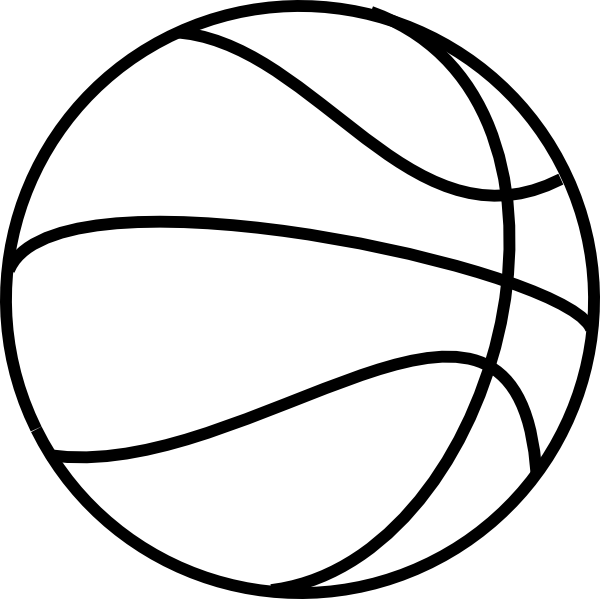 600x599 Coloring Book Basketball Clip Art