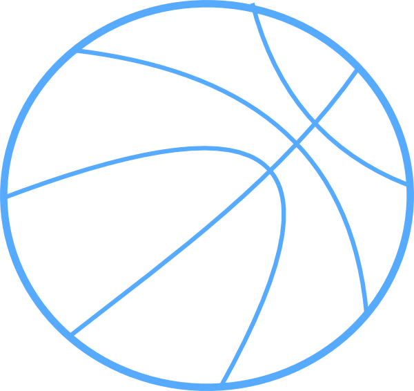 600x566 Graphics For Basketball Colored Outline Graphics Www