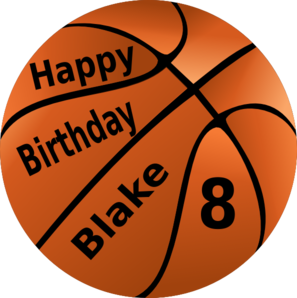 297x298 Happy Birthday Basketball Clip Art